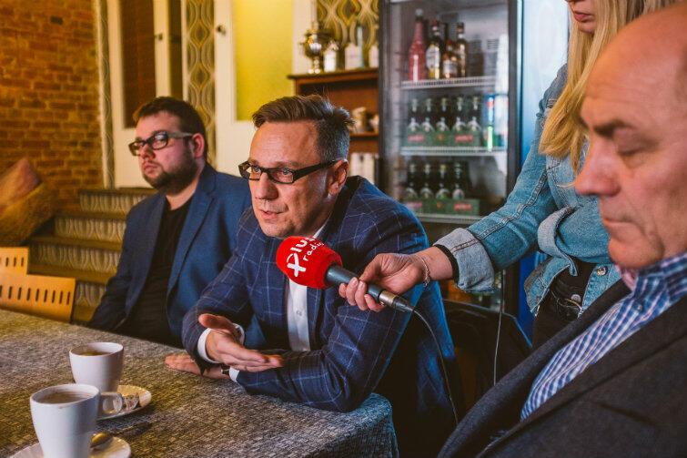 Prezes Siarkopolu Tomasz Zakrzewski, po prawej - dyrektor Paweł Rudzki