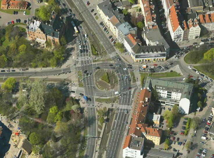 Skrzyżowanie ulic Wały Jagiellońskie i Hucisko
