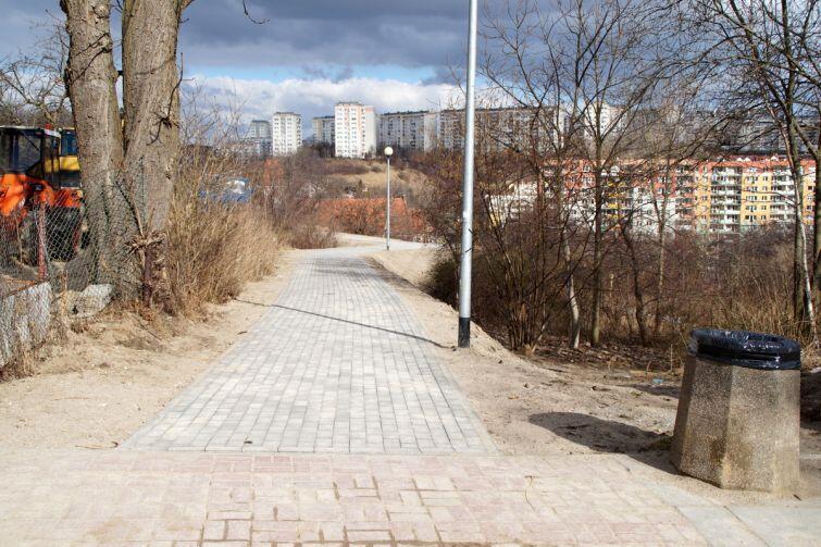 Park na Zboczu leży w granicach Siedlec i Wzgórza Mickiewicza