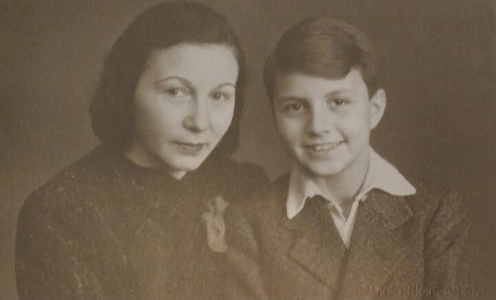Frank Meisler z matką, Gdańsk, lata 30. XX wieku