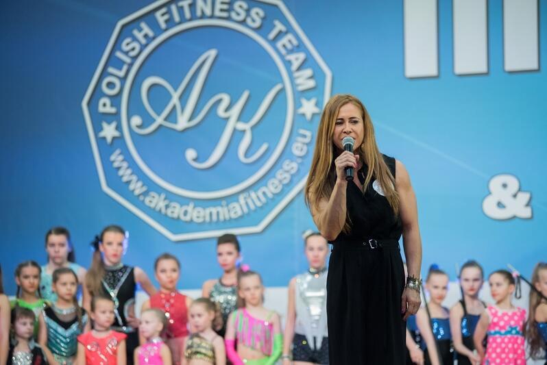 Aleksandra Kobielak założycielka Akademii Fitness Sportowego oraz organizator zawodów Fitness FIT-KIDS & Fitness Aerobic FREE TIME FESTIWAL 2017 Gdańsk, Amber Expo ul. Żaglowa