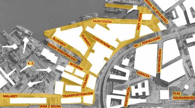 Plan ulic Młodego Miasta