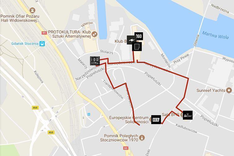 Mapa festiwalu