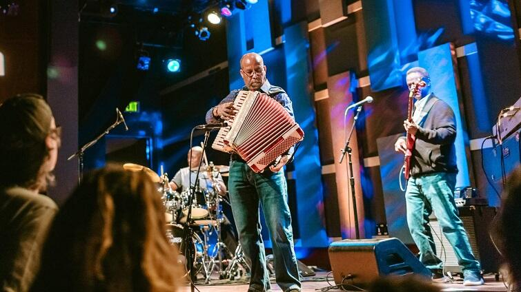 Hailu Mergia performs live at World Cafe Live in Philadelphia