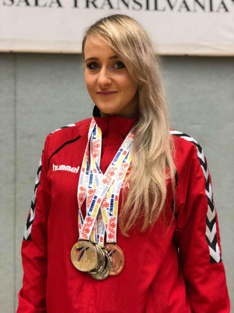 Aleksandra Przytulska z czterema medalami