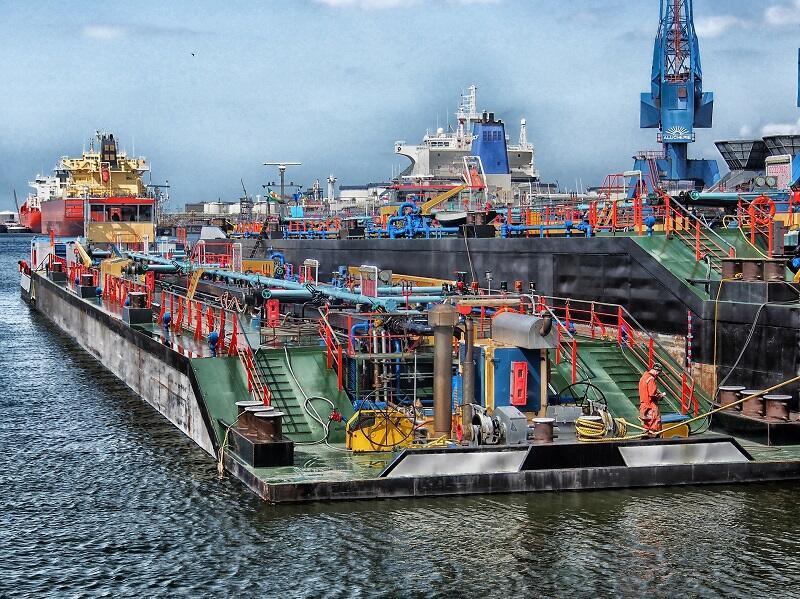 Port w Rotterdamie, obecnie największy w Europie