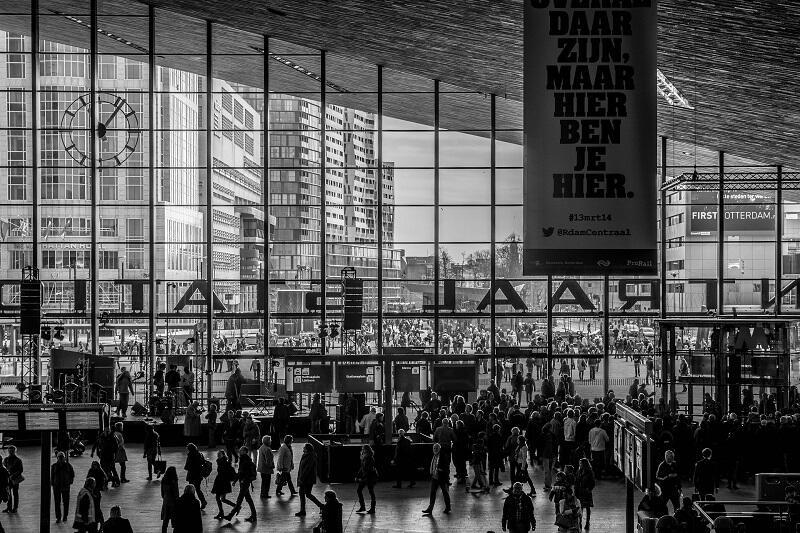 Centraal Station Rotterdam, czyli dworzec główny w Rotterdamie