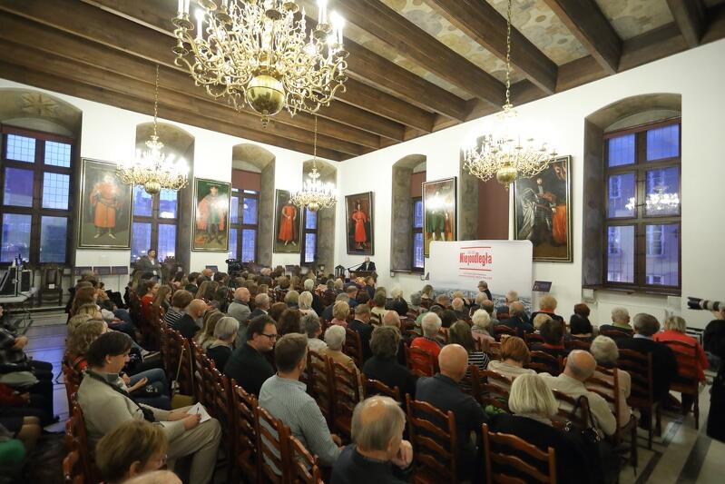 Gdańskie Debaty Obywatelskie odbywają się w Wielkej Sala Wety w Ratuszu Głównego Miasta Gdańska