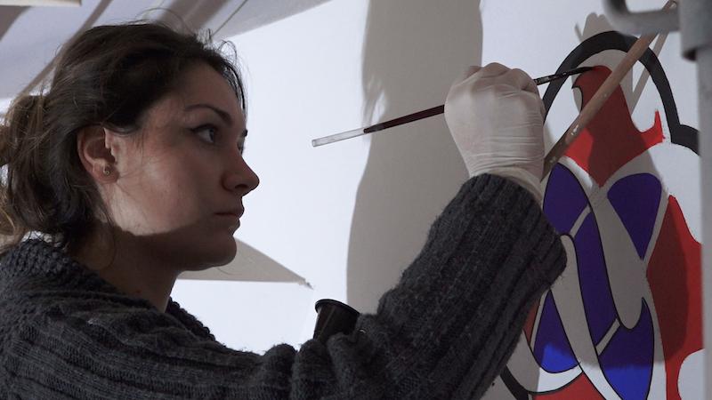 Malowanie zdobień przez tureckie małżeństwo to około dwumiesięczna praca
