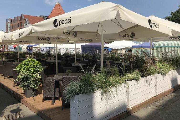 Tak prezentował się w tym roku ogródek restauracji Fishmarkt