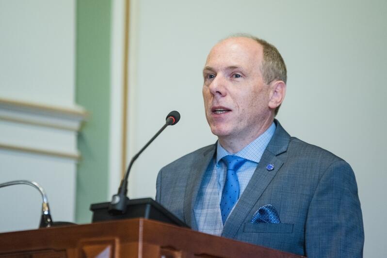 Prof. Cezary Obracht-Prondzyński wygłosił wykład podczas uroczystej sesji Rady Miasta Gdańska, 8 listopada