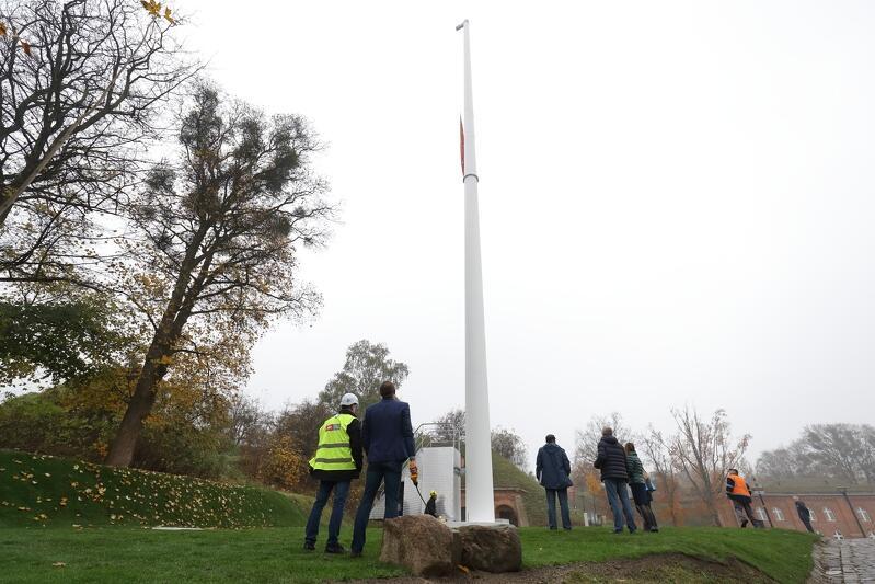 Żeby zobaczyć okazałość flagi, wiatr jest niezbędny