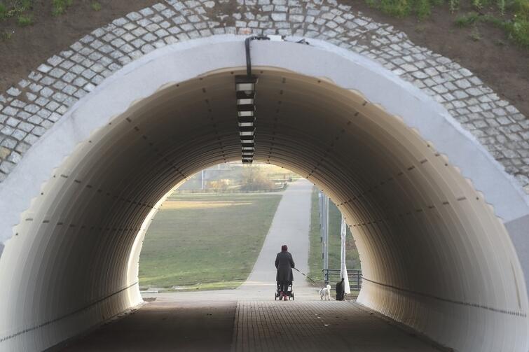 Ulica Wilanowska rozcina ten rozległy gdański jar, tunel pod ulicą - łączy go, z myślą o okolicznych mieszkańcach