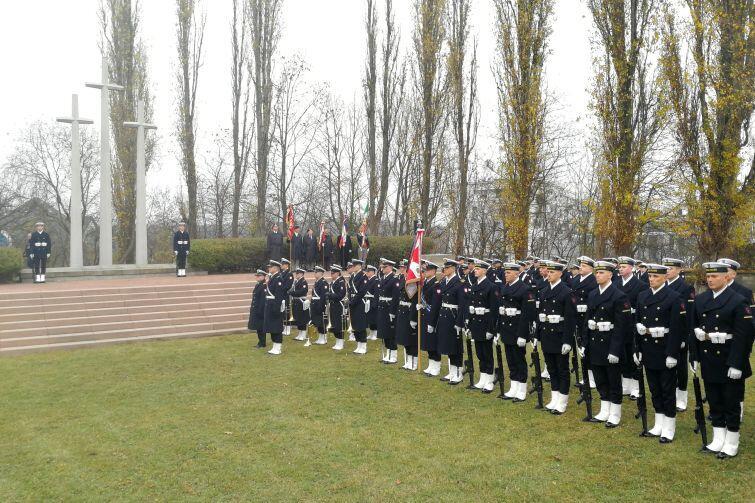 W uroczystościach wzięła udział kompania reprezentacyjna Marynarki Wojennej RP