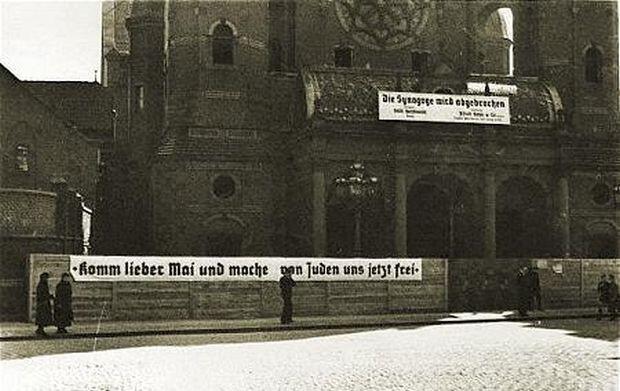 'Nadejdź ukochany maju i uwolnij nas już od Żydów'