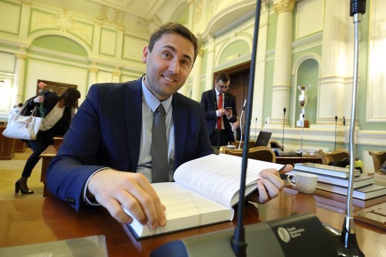 Radny Piotr Borawski (PO) został wybrany na przewodniczącego klubu Koalicji Obywatelskiej w RMG