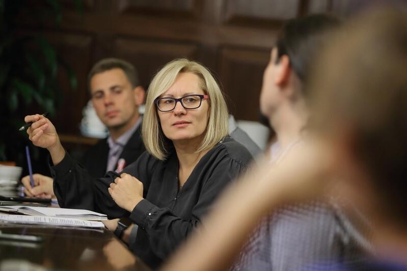 Środowe spotkanie prowadziła Sylwia Betlej z gdańskiego magistratu, która odpowiada za przygotowania kolejnych edycji Budżetu Obywatelskiego w Gdańsku