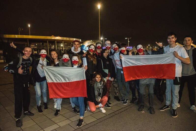 Fani przed meczem w Gdańsku