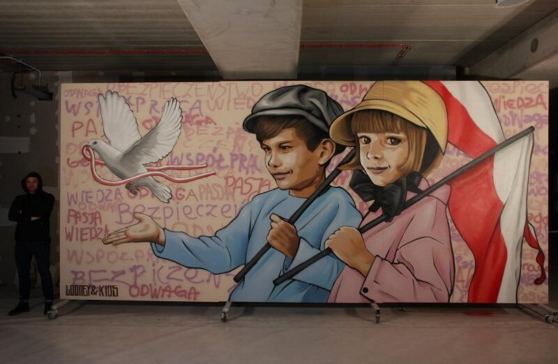 Looney i mural na 100-lecie odzyskania niepodległości przez Polskę w całej okazałości