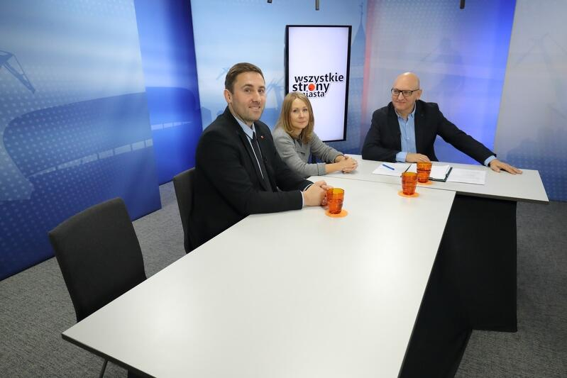 Piotr Borawski szef klubu radnych KO, Beata Dunajewska