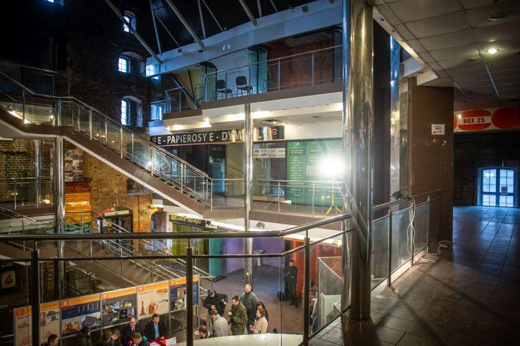 Wnętrze Wielkiego Młyna ostatnio przebudowywane było w latach 90-tych ubiegłego stulecia. Działało tu centrum handlowe