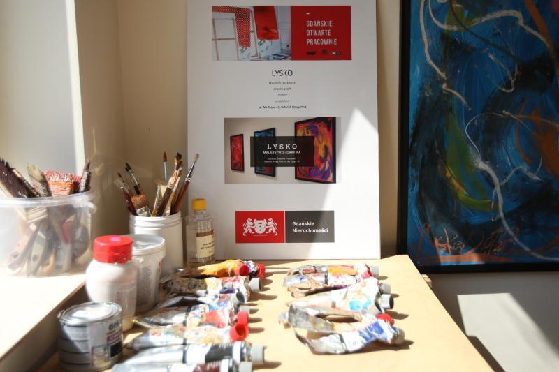 Pracownia działająca w wynajętym lokalu w 1 edycji programu Gdańskie Otwarte Pracownie.