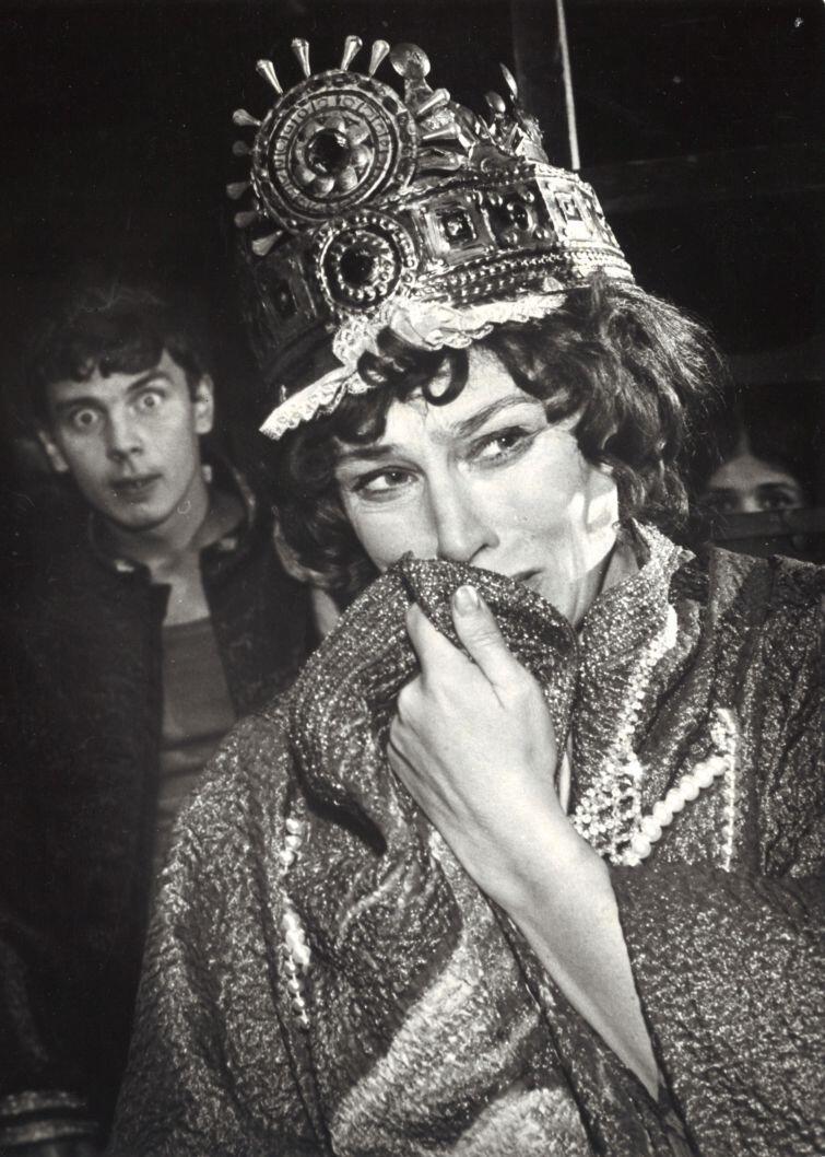 Halina Słojewska w spektaklu Przedstawienie Hamleta we wsi Głucha Dolna  Ivo Brešana w reżyserii Kazimierza Kutza (1978 r.)