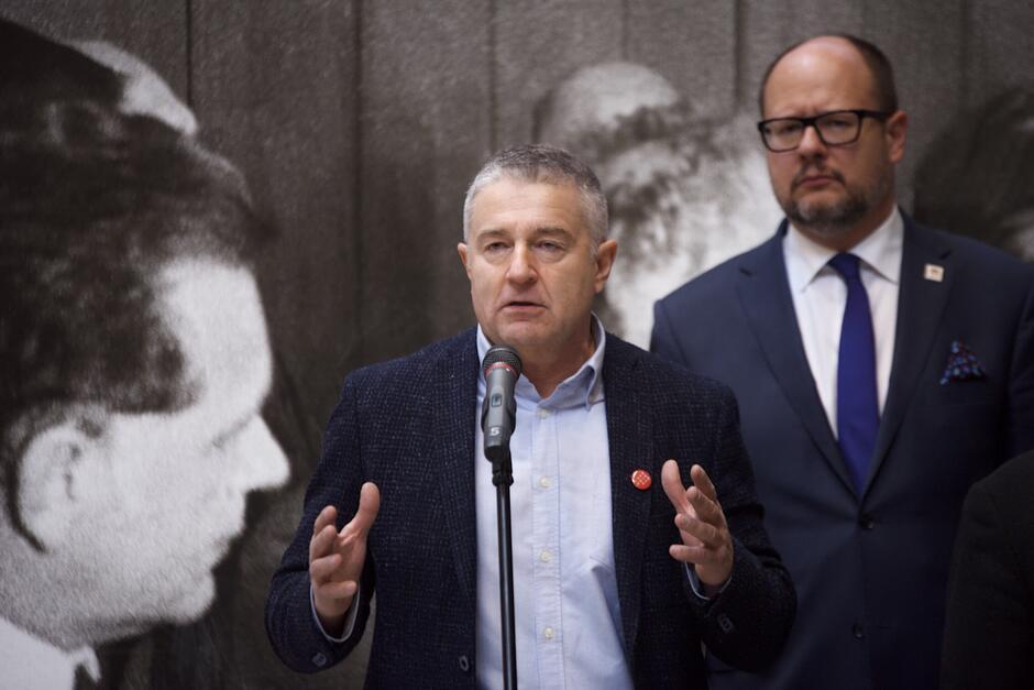 Władysław Frasyniuk i Paweł Adamowicz - prezydent Gdańska (po prawej)
