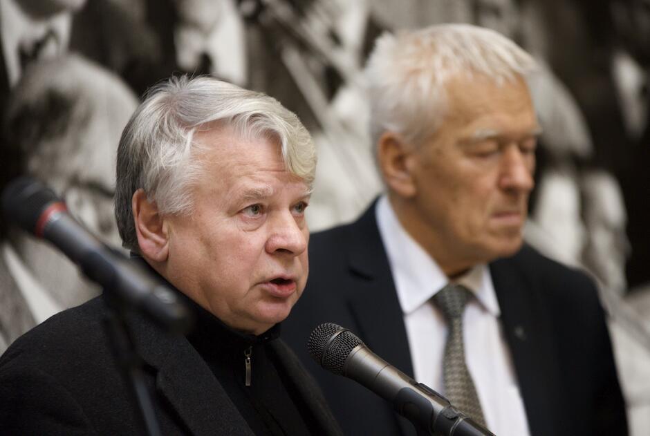 Bogdan Borusewicz i Kornel Morawicki (po prawej)
