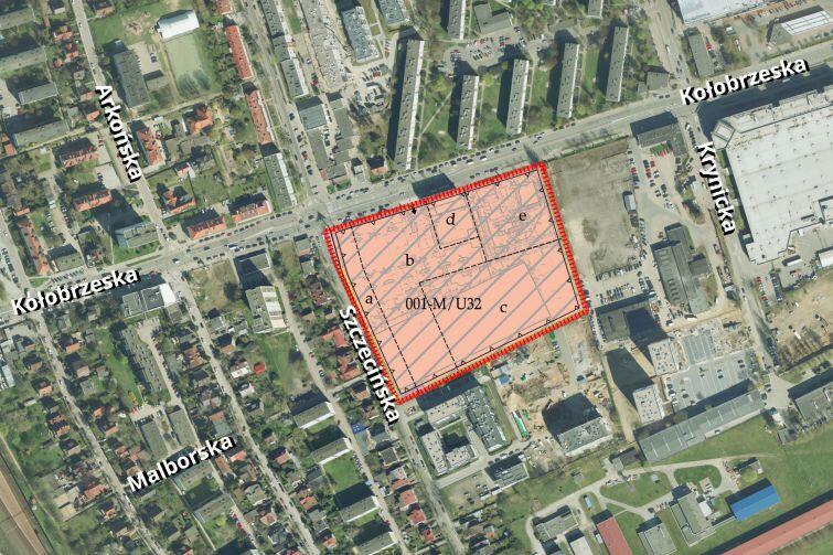 Oliwa Dolna - rejon ulic Kołobrzeskiej i Szczecińskiej