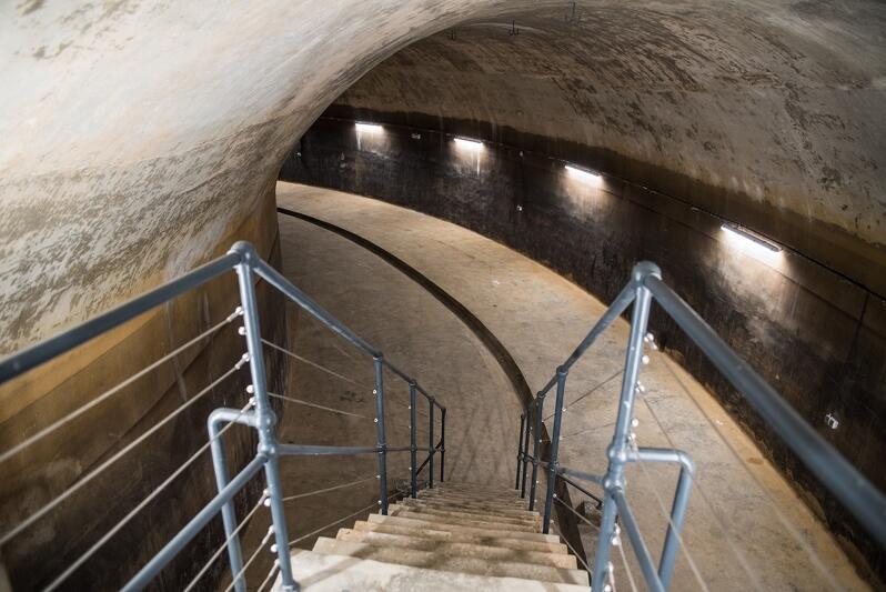 """Wnętrza """"Sobieskiego"""" przypominają podziemny labirynt. Wystawa stała, którą będzie można tu oglądać, wykorzystywać będzie naturalne walory zbiornika"""