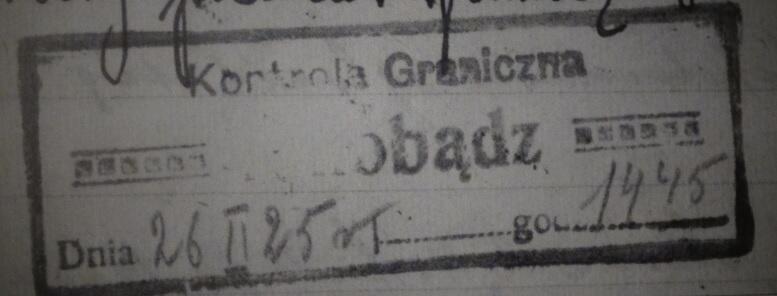 Stemple polskich służb granicznych w dzienniku druha Czesława Michalaka