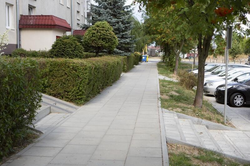 Wyremontowany chodnik przy ul. Hoene