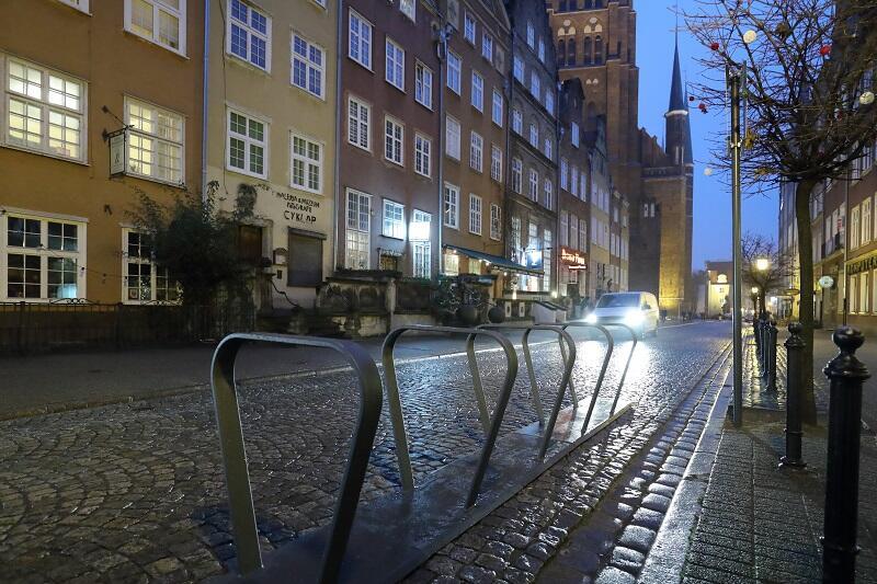 Parking dla MEVO przy ul. Piwnej w Gdańsku