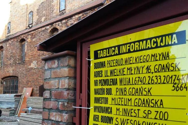 Koszt I etapu prac remontowych w Wielkim Młynie to 4,3 mln zł