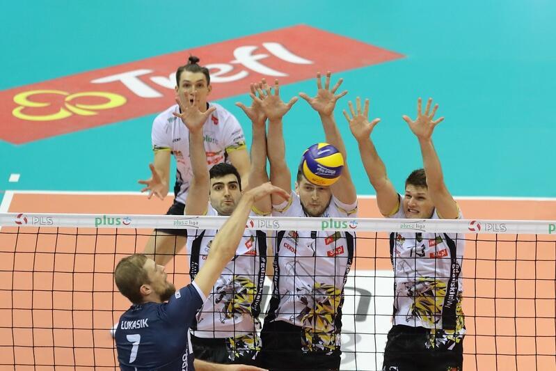 Siatkarze z Gdańska dobrze grali tylko w pierwszym secie