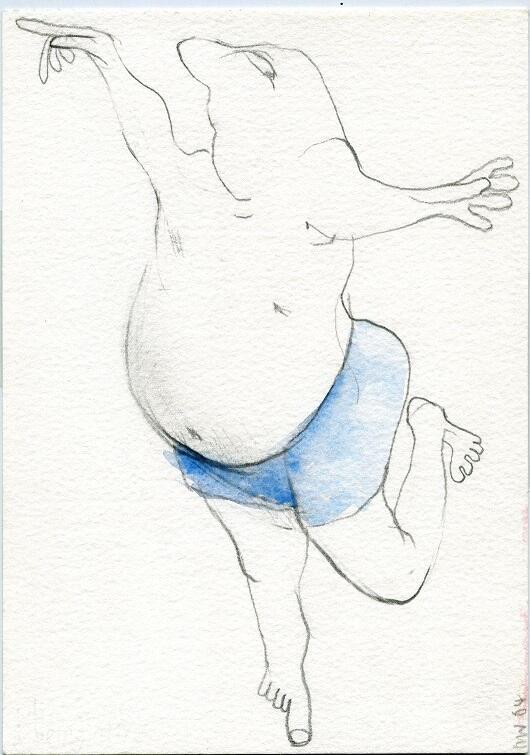 'Man dancing', praca Nicka Wadley'a na wystawie w CSW Łaźnia 2