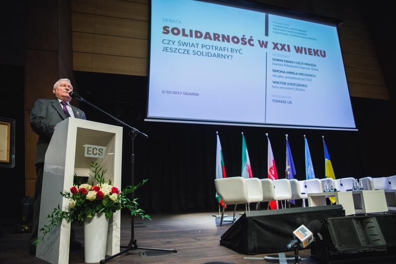 Lech Wałęsa, były prezydent RP, przywódca opozycyjnej wobec władzy PRL 'Solidarności'