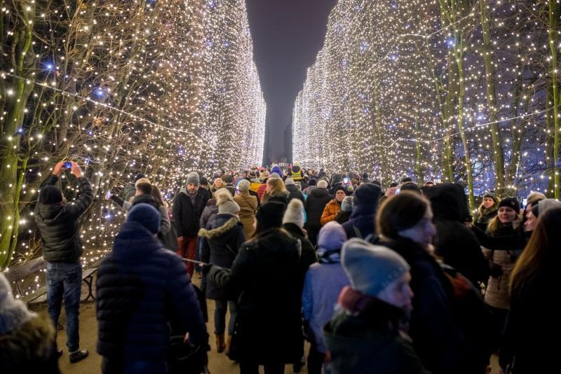 Przychodząc na Wigilię Oliwską warto po drodze zajrzeć do Parku Oliwskiego, gdzie jak co roku zobaczymy zachwycające iluminacje