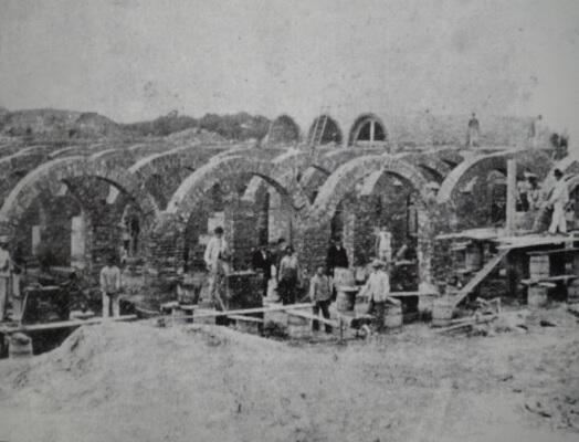 Budowa zbiornika na wzgórzu oruńskim, rok 1869