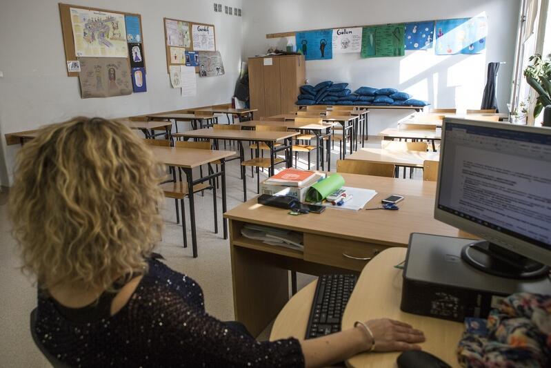 Nauczyciele protestowali już wcześniej. W marcu 2017 w strajku generalnym nauczycieli przeciwko rządowej reformie edukacji. Nz. Gdańsk Wrzeszcz, Gimnazjum nr 25
