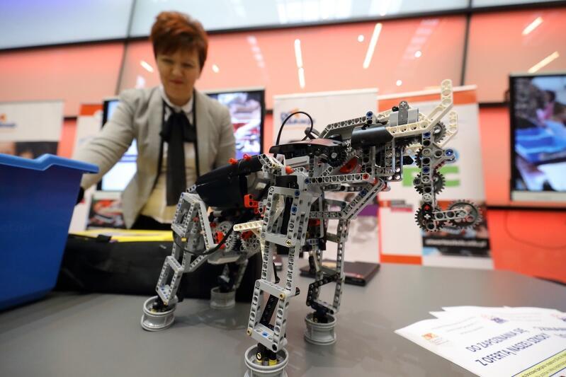 W szkołach uczniowie mogą budować z klocków robotycznych LEGO np. słonie i programować je