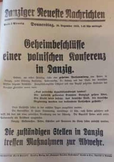 """Wydanie specjalne """"Danziger Neueste Nachrichten"""" z 26 XII 1918"""