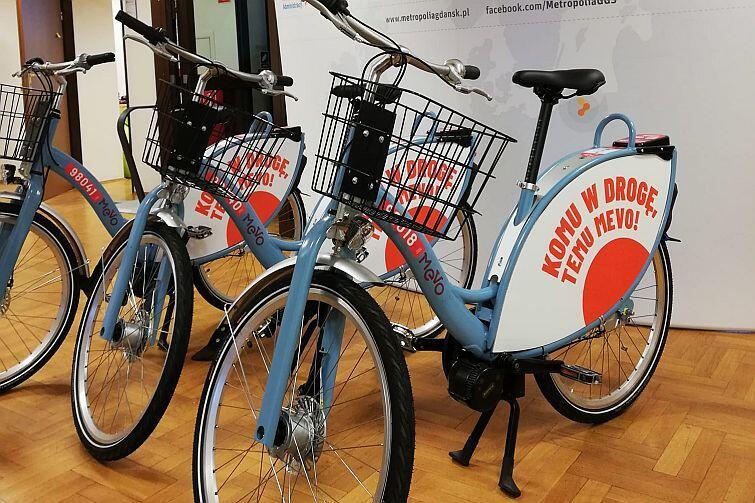 Testowe modele roweru metropolitalnego MEVO