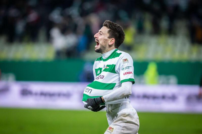Filip Mladenović po zdobyciu gola