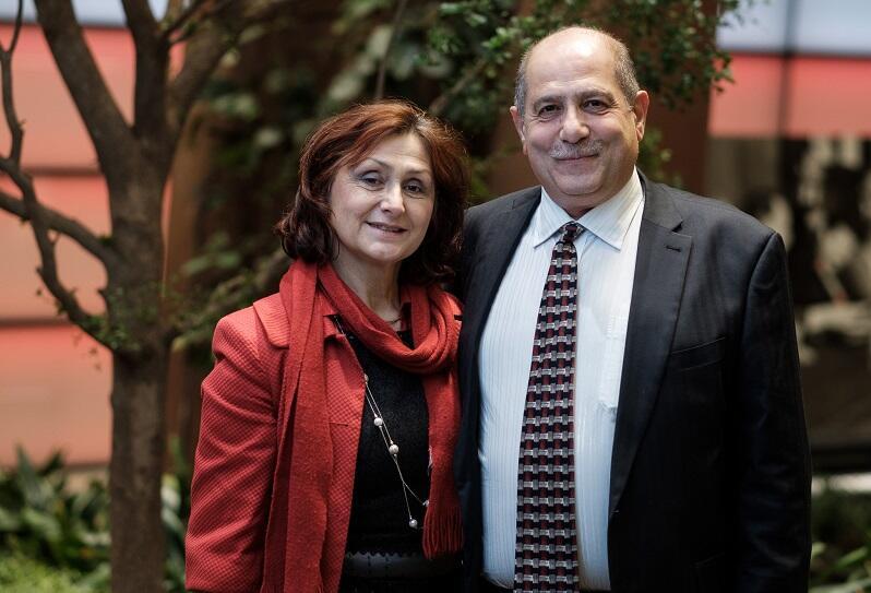 Majed Tinawi z żoną Anną