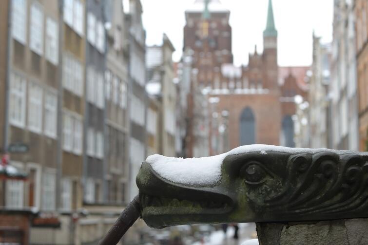 Śnieg w Gdańsku szybko się topi, ale wraca