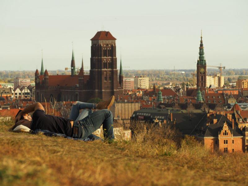 Zdjęcie gdańskiej łąki miejskiej, które zwyciężyło w konkursie