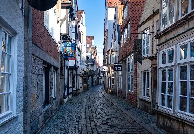 Dzielnica Schnoor w Bremie to jeden z obowiązkowych punktów wizyty w tym partnerskim mieście Gdańska