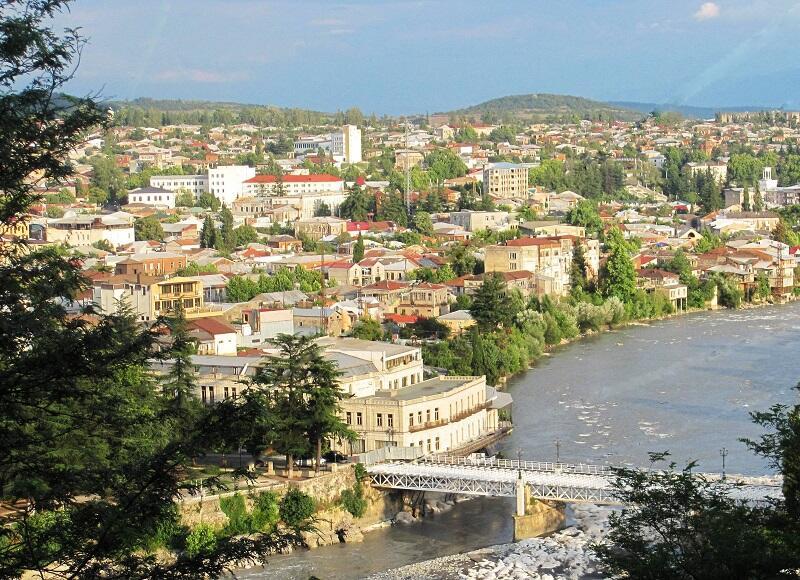Śródmieście Kutaisi i Biały Most